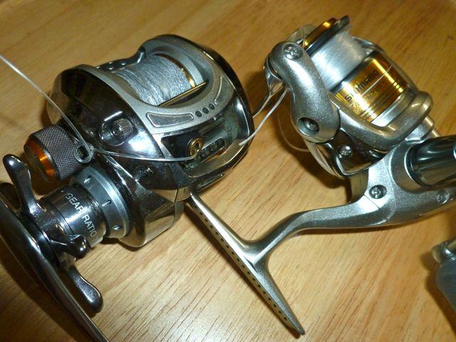 spinning reel versus baitcast reel